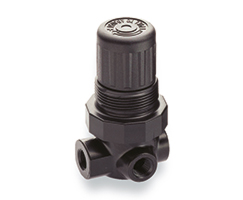 R07 Series general purpose pressure regulator, G1/8, 0.3-7 bar, without gauge; R07-100-RNKG